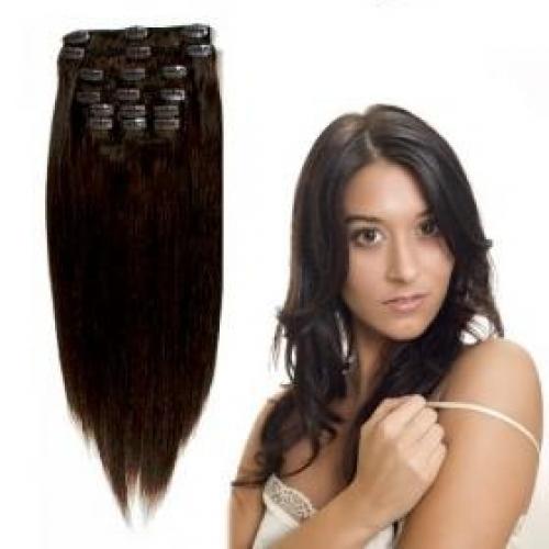 Brasilianskt clips in färg 2 mörkbrun