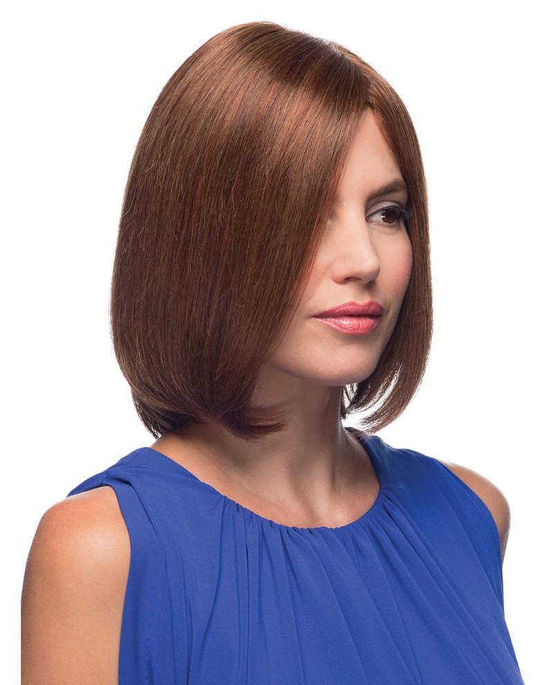 Europeiskt hår med Mono top och 100% handgjort bak