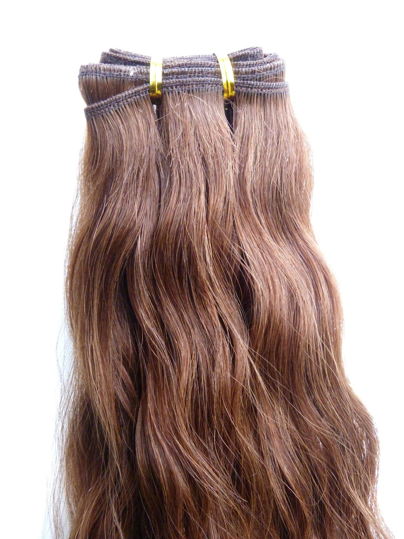 Chokladbrun löshår på trens europeiskt hår