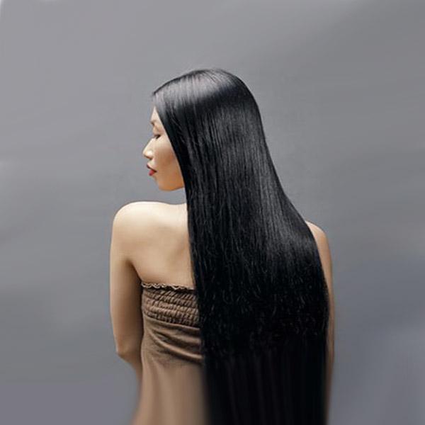 Sang naturell virgin hår 62cm spikrakt